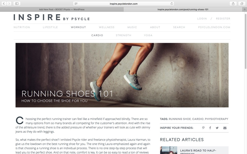 Physio running shoe advice london