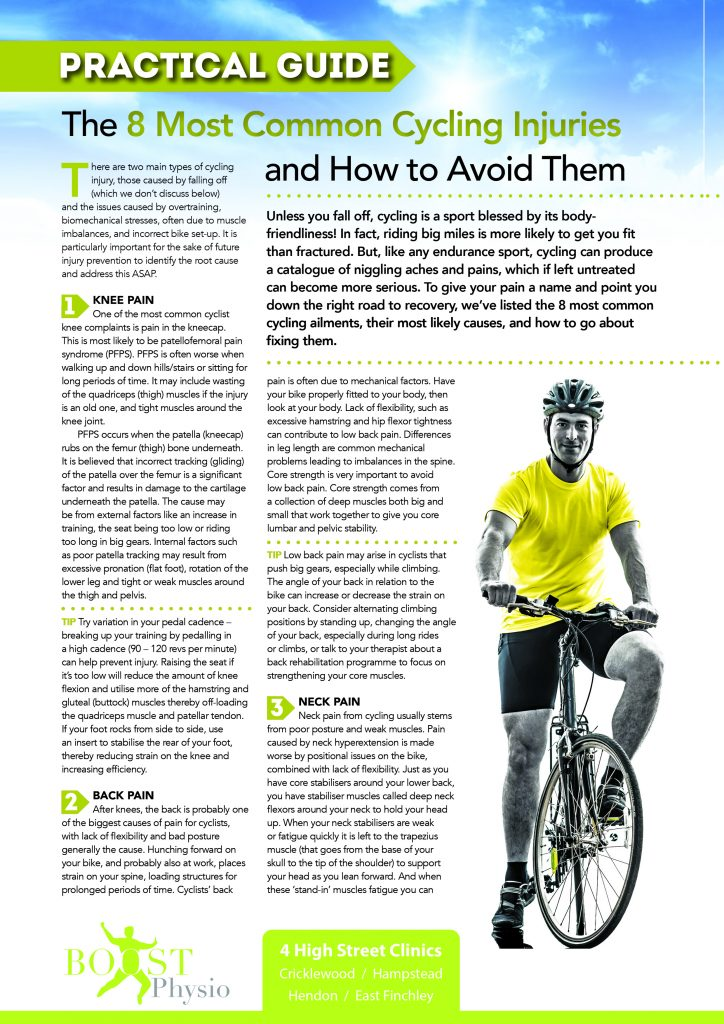 How to Avoid These 8 Cycling Injuries