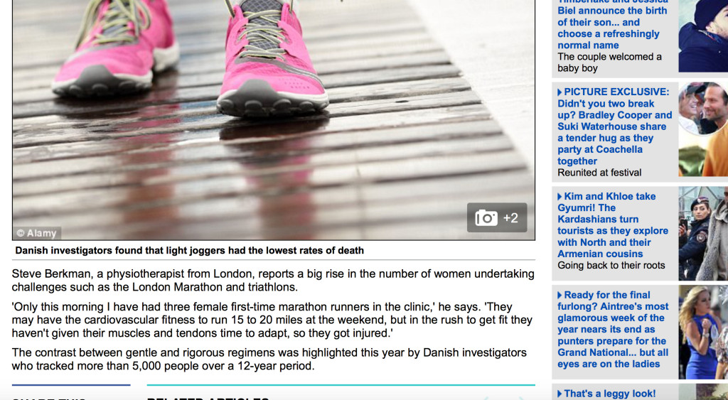 Steven Berkman, Director of BOOST PHYSIO quoted in The Daily Mail