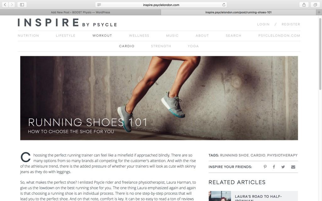 Physio running shoe advice london
